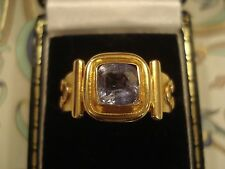 Beautiful 22CT Gold; 1.51CT Glittering Cornflower Blue Ceylon Sapphire Gem Ring