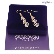 Orecchini oro Swarovski Elements originali G4Love cristalli Trilogy stras regalo