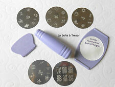 Nail Art - Kit Spécial Stamping 34 Motifs Tampons - NAIL ART pour Ongles