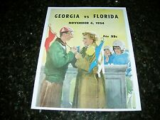 1954 GEORGIA BULLDOGS vs FLORIDA GATORS NCAA Football Progam COVER ART ONLY
