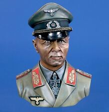 "Verlinden 1/4 German Field Marshal Erwin Rommel ""The Desert Fox"" Bust WWII 2798"