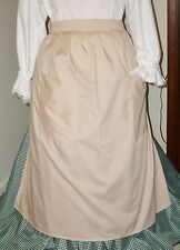 "CIVIL WAR DRESS VICTORIAN COLONIAL LADY'S ""TAN"" 100% COTTON WRAP AROUND APRON"