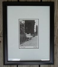 Portugal Bench Print Connie Begg Black White Framed Matted 16 x 13