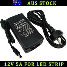 12V 5A AU PLUG POWER SUPPLY ADAPTER CHARGER FOR 3528 5050 RGB LED STRIP LIGHT