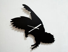 Eagle Attacking Silhouette - Wall Clock