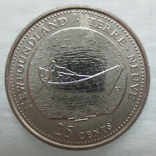 1992 CANADA 25¢ NEWFOUNDLAND BRILLIANT UNCIRCULATED QUARTER
