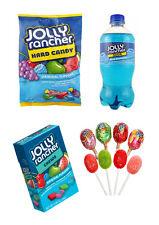 Selezione di importazione americana JOLLY Rancher CANDY & Blue Raspberry soda.
