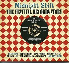MIDNIGHT SHIFT THE FESTIVAL RECORDS STORY 1958 - 1960 - 2 CD BOX SET