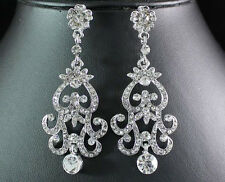 GORGEOUS AUSTRIAN RHINESTONE CRYSTAL DANGLE EARRINGS BRIDAL PROM N1515EARRING