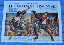 Affiche poster du film Le capitaine Fracasse, reproduction, 80 x 57 cm
