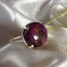 7.25 Ct, Mojave, Purple, Turquoise Ring, Solitaire, Sterling Silver, Size O