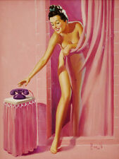 "Vintage Pin Up Pulp Art  11 x 14""  Photo Print"