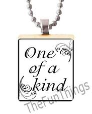 One of a Kind Scrabble Tile Pendant Recycled Charm Fun Trendy Jewelry