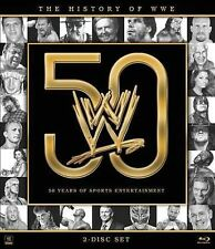 BRAND NEW, SEALED WWE: History of the WWE (Blu-ray Disc, 2013, 2-Disc Set)