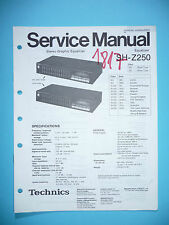 Service MANUAL PER TECHNICS sh-z250, ORIGINALE