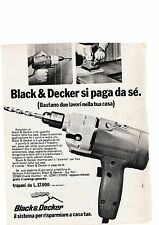 Ritaglio Clipping Pubblicità Advertising 1975 Black & Decker trapano