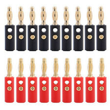 10pcs/lot 4mm Gold Plated Audio Speaker Wire Cable Banana Plug Adapter Connector