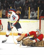 KEN DRYDEN Goes LOW 2 STOP NYR Vickers at NET 8x10 Photo MONTREAL CANADIENS HOF