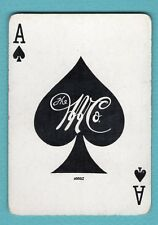 Single Swap Playing Card ACE OF SPADES #50A WOLFF & MARX DEPT STORE AD ANTIQUE