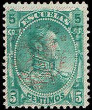 Scott # 114 - 1893 - ' Simon Bolivar ', Stamp of 1882-1888 Ovpt in Red