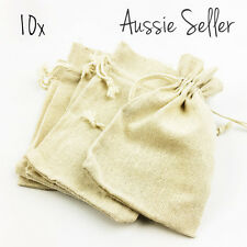 10x cotton muslin drawstring bags gifts wedding favours burlap party supplies