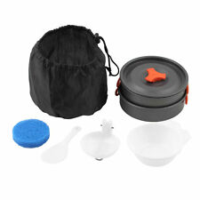 Outdoor Camping Cooking Set Non-stick Outdoor Cookware Picnic Pot Pan Bowl SY