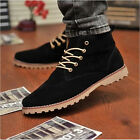 British Men's High Top Loafers Sneakers Shoes Casual Suede Lace Ankle Boots K154