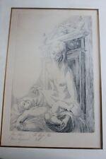 Gravure JEAN ADAM Epreuve d'artiste La Vierge Nue