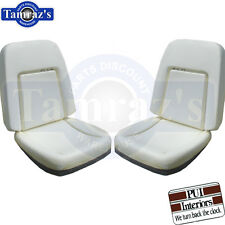 69 Camaro Deluxe Front Bucket Seat Buns Foam Cushion W/ Backrest Wires Pair