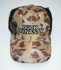 new Camo Duck Dynasty Camouflage Black Mesh Hunting Baseball Trucker Hat Cap NWT