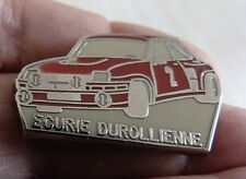 RARE PIN'S VOITURE RALLYE R 5 TURBO 2 RENAULT 5 TEAM ECURIE DUROLIENNE