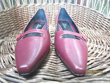 New Vintage Beautiful Burgundy Shoes Size 6M By ROS HOMMERSON