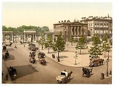 2 Victorian Views London Hyde Park Corner, Kensington Gardens Repro Old Photos