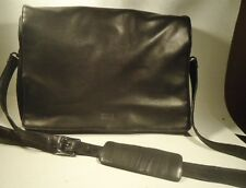 Wilsons LEATHER Pelle Studio Messenger Bag Briefcase Laptop Computer Bag Black