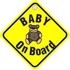 Suction Cup Diamond Sign - Yellow - Baby On Board- CASTLE PROMOTIONS- DH01
