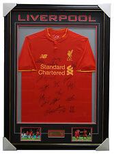 Liverpool Signed 2016/17 Team Jersey Framed Brand New + COA Milner Sturridge