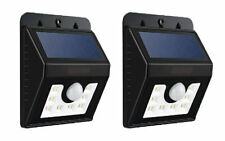 2 x 1.5W BRIGHT LED SMD SOLAR POWER GARDEN LIGHTING FENCE SHED WALL DOOR LIGHT