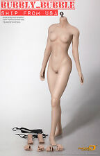 Phicen 1/6 S16A Super-Flexible Seamless Female Figure M Bust PALE  SHIP FROM USA