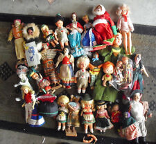 BIG Lot of 28 Vintage Plastic Cloth Other Character Girl and Boy Dolls LOOK