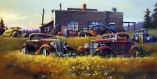 "Dale Klee ""Cool Summer"" Old Hot Rod Signed/Numbered Print 22"" x 12"""