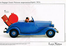 PUBLICITE ADVERTISING 035  1994  LOUIS VUITTON  bagages malles valises ( 2p)