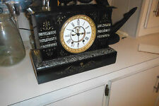 Seth Thomas T & S Open Escapement Slate & Marble  Mantle Clock Repair Restore