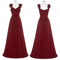 Pageant Chiffon Formal Gown Ball Party Bridesmaid Dress Long Evening Prom Dress