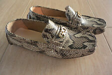 NIB Women's Cole Haan Shelby CH Logo II Roccia Snake Print Leather Loafer Size 7