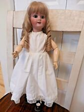 "Antique German S&H  PB in star Bisque/compo/wood Doll 1909 3 1/2 20 "" TALL"