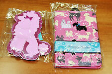 Passport Holder Wallet + Luggage Tag Cute Pink Dog