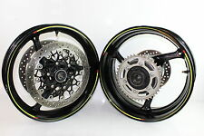 12-15 SUZUKI GSXR 1000 WHEELS FRONT REAR RIM WHEEL ROTORS SPROCKET