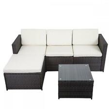 5 PCS Outdoor Patio Sofa Set Sectional Furniture PE Wicker Rattan Deck Couc