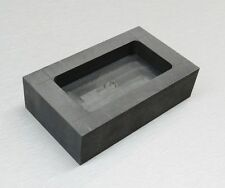 500 GRAM GRAPHITE INGOT MOLD MACHINED TO POUR GOLD SILVER BARS FOR MELTING KIT