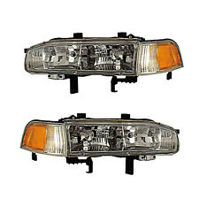 92-93 HONDA ACCORD HEADLIGHTS FRONT LAMPS PAIR SET